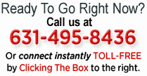 Ready to book a dumpster right now? Call us at 631-495-8436 or connect toll-free by clicking the connection on the right